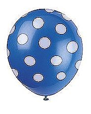 Blue Dots Helium Balloons