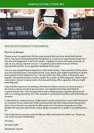 Waitress Cover Letter Sample