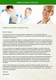 Sample Nursing Cover Letter