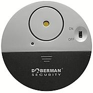 DOBERMAN SECURITY Ultra-Slim Window Alarm with Loud 100dB Alarm and Vibration Sensors - Modern & Ultra-Thin Design Co...