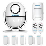 BIBENE WIFI Home Security Alarm System DIY KIT with Easy App, 2-in-1 PIR Main Panel, Wireless Burglar Alert Security ...