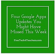 Free Technology for Teachers: Four Google Apps Updates You Might Have Missed This Week