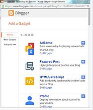 Free Technology for Teachers: Pin Featured Posts in Blogger - Feature a Student Blogger