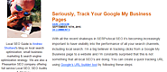 Seriously, Track Your Google My Business Pages