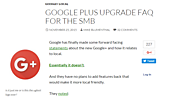 Google Plus Upgrade FAQ for the SMB