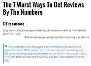 The 7 Worst Ways To Get Reviews By The Numbers