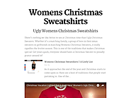 Womens Christmas Sweatshirts