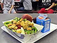 Why the healthy school lunch program is in trouble. Before/after photos of what students ate.