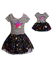 Colorful Star Dance Set with Matching Outfit for 18 inch Doll