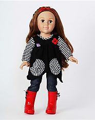 """Hanging Out"" Dollie - 18 inch Play Doll (Light/Auburn)"