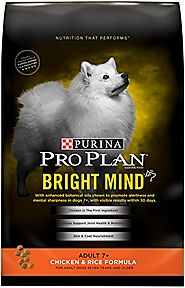 Purina Pro Plan Dry Dog Food, Bright Mind, Adult 7+ Chicken & Rice Formula 30-Pound Bag, Pack of 1