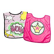Booginhead Bib with Cape, Pink, 6 Count