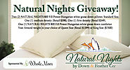 Natural Nights Giveaway for Goose Down pillows & comforter sponsored by Whole Mom