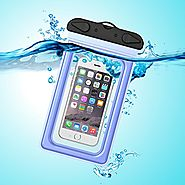 Waterproof Pouch, iThrough Ultra Universal Waterproof Pouch, Waterproof Case with Touch Responsive Transparent Screen...