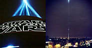 Spire of Dublin turned into giant 'Star Wars' lightsaber