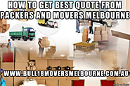 How to get best quote from packers and movers melbourne
