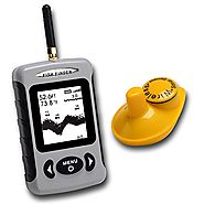 Fish Finder RISEPRO(TM) Wireless Sensor Sonar Fishfinder 433MHz Sea Contour Thermometer °C/°F 70m 230ft FFW-718