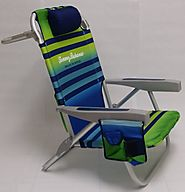 Tommy Bahama 2015 Backpack Cooler Chair with Storage Pouch and Towel Bar