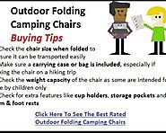 Best Outdoor Folding Camping Chairs Reviews - Tackk