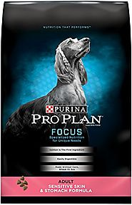 Purina Pro Plan Dry Dog Food, Focus, Adult Sensitive Skin & Stomach Formula, 18-Pound Bag, Pack of 1