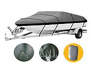 Brightent Boat Cover Heavy Duty 600D Three Sizes Water Proof Trailer Fishing Ski Covers (Fit Boat Length 17'-19' XBT2H)