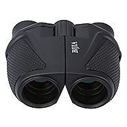 G4Free 12x25 Waterproof Binoculars(BAK4,Green Lens),Large Eyepiece Super High-Powered Field Surveillance Binoculars