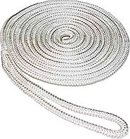 SeaSense Double Braid Nylon Dock Line, 1/2-Inch X 15-Foot, White
