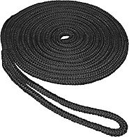 SeaSense Double Braid Nylon Dockline, 1/2-Inch X 20-Foot, Black