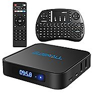 Globmall Android 6.0 TV Box with Mini Wireless Qwerty Keyboard, 2017 Model X1 4K Android TV Box DDR4 1GB RAM 8GB ROM ...