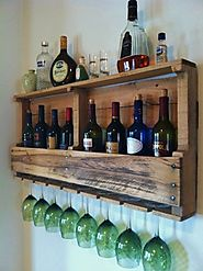 Wine Rack Reclaimed Wood, 24 Stain Colors, Rustic Primitive, FREE SHIP