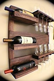 Rustic Wall Mounted Hanging Wine Racks