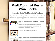 Wall Mounted Rustic Wine Racks