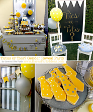 Ties or Tutus Gender Reveal Shower Party Planning Decorations Ideas