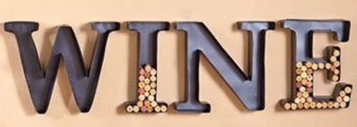 Headline for Letter Wine Cork Holders