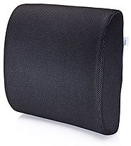 Premium Lumbar Support Pillow by MemorySoft - Memory Foam Lower Back Support Cushion for your Home, Office Chair, and...
