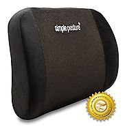 BackGuard™ - Premium Lower Back Pain Cushion - Proprietary Density Memory Foam Lumbar Cushion Provides Healthy Back S...