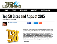TechLearning's David Kapuler introduces some hot choices in his: Top 50 Sites and Apps of 2015 | Tech Learning