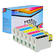 Compatible Ink Cartridges For Epson T078 Value Pack Of 6 (BK, C, M, Y, LC, LM)