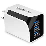 Wall Charger,UROPHYLLA USB Wall Charger 36W 7.2A 3-Port Multi-Port USB Charger for iPhone 7/6s/6 Plus, iPad, Samsung ...