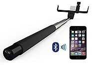 SayCheeze Selfie Stick Bluetooth Wireless All-in-One Adjustable Smart Shooting Monopod with Mirror for All Smart Phon...