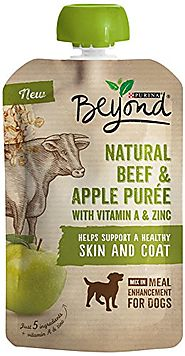 Purina Beyond Natural Wet Dog Food, Beef & Apple Puree, 3.2-Ounce Pouch, Pack of 1