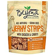 Purina Beyond Natural Dog Snack, Jerky Strips with Chicken & Carrots, 9-Ounce Pouch, Pack of 1