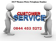 24/7 Thames Water Telephone Number 0844 453 5272