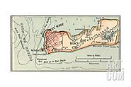 Inset Map of Key West Island, Florida Giclee Print at Art.com