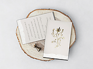 IVORY FLORAL THEMED - FOIL STAMPED WEDDING INVITATIONS - A2zWeddingCards