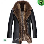CWMALLS® Custom Raccoon Fur Lined Coats CW836059