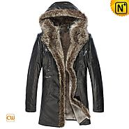 CWMALLS® Pittsburgh Custom Hooded Fur Coat CW877158