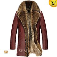 CWMALLS® Custom Mens Fur Lined Leather Coats CW836059
