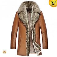 CWMALLS® Lincoln Men Shearling Lined Coat CW868565