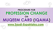 CHANGING OF VISA IQAMA PROFESSION IN SAUDI
